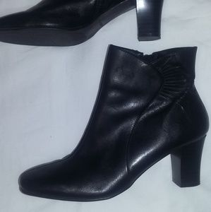 Croft & Barrow Black Leather Boot Huntley Size 7.5